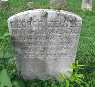 ZENIER (CW), GEORGE - Northampton County, Pennsylvania   GEORGE ZENIER (CW) - Pennsylvania Gravestone Photos