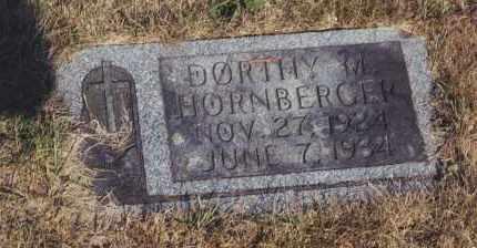 HORNBERGER, DORTHY M - Northumberland County, Pennsylvania   DORTHY M HORNBERGER - Pennsylvania Gravestone Photos