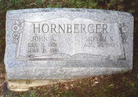 HORNBERGER, MIRIAM K - Northumberland County, Pennsylvania   MIRIAM K HORNBERGER - Pennsylvania Gravestone Photos