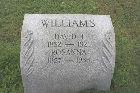 WILLIAMS, DAVID J - Northumberland County, Pennsylvania | DAVID J WILLIAMS - Pennsylvania Gravestone Photos