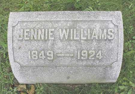 WILLIAMS, JENNIE - Northumberland County, Pennsylvania | JENNIE WILLIAMS - Pennsylvania Gravestone Photos