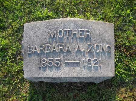 ZONG, BARABARA - Northumberland County, Pennsylvania | BARABARA ZONG - Pennsylvania Gravestone Photos