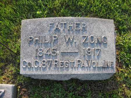 ZONG, PHILIP - Northumberland County, Pennsylvania | PHILIP ZONG - Pennsylvania Gravestone Photos