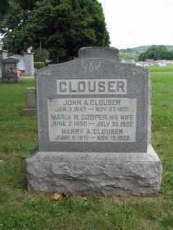 COOPER CLOUSER, MARIA - Perry County, Pennsylvania | MARIA COOPER CLOUSER - Pennsylvania Gravestone Photos