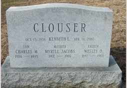 JACOBS CLOUSER, MYRTLE - Perry County, Pennsylvania | MYRTLE JACOBS CLOUSER - Pennsylvania Gravestone Photos
