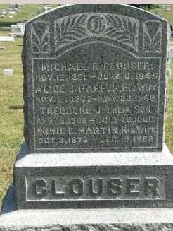 HARPER CLOUSER, ALICE - Perry County, Pennsylvania | ALICE HARPER CLOUSER - Pennsylvania Gravestone Photos