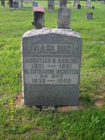 HARLING, CHRISTIAN B - Perry County, Pennsylvania | CHRISTIAN B HARLING - Pennsylvania Gravestone Photos