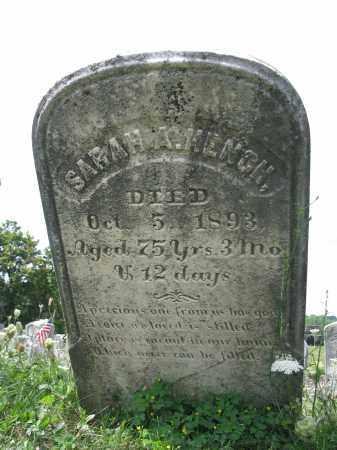 HENCH, SARAH A. - Perry County, Pennsylvania   SARAH A. HENCH - Pennsylvania Gravestone Photos