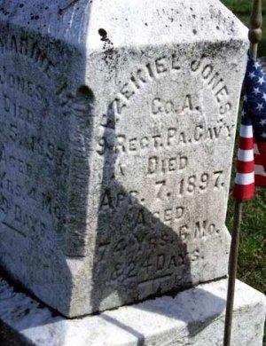 JONES, EZEKIEL - Perry County, Pennsylvania | EZEKIEL JONES - Pennsylvania Gravestone Photos