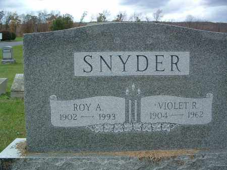 SNYDER, ROY A. - Perry County, Pennsylvania | ROY A. SNYDER - Pennsylvania Gravestone Photos