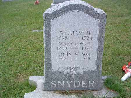 SYNDER, WILLIAM H. - Perry County, Pennsylvania | WILLIAM H. SYNDER - Pennsylvania Gravestone Photos