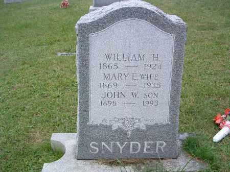 SNYDER, JOHN W. - Perry County, Pennsylvania | JOHN W. SNYDER - Pennsylvania Gravestone Photos