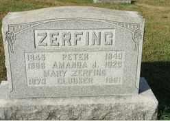 ZERFING, AMANDA - Perry County, Pennsylvania | AMANDA ZERFING - Pennsylvania Gravestone Photos
