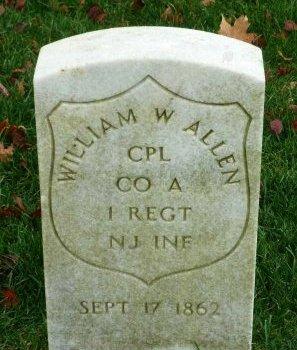 ALLEN (CW), WILLIAM W. - Philadelphia County, Pennsylvania | WILLIAM W. ALLEN (CW) - Pennsylvania Gravestone Photos