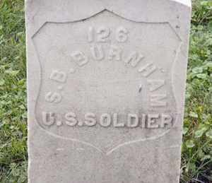 BURNHAM (CW), SYLVANUS B. - Philadelphia County, Pennsylvania   SYLVANUS B. BURNHAM (CW) - Pennsylvania Gravestone Photos