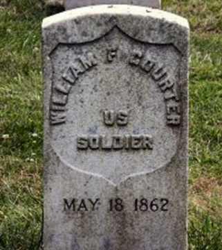 COURTER (CW), WILLIAM F. (P) - Philadelphia County, Pennsylvania   WILLIAM F. (P) COURTER (CW) - Pennsylvania Gravestone Photos