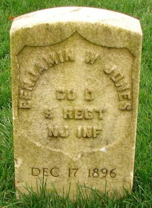 JONES (CW), BENJAMIN W. - Philadelphia County, Pennsylvania   BENJAMIN W. JONES (CW) - Pennsylvania Gravestone Photos