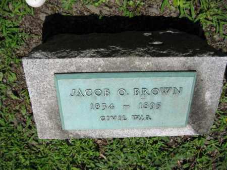 BROWN (CW), JACOB O. - Pike County, Pennsylvania | JACOB O. BROWN (CW) - Pennsylvania Gravestone Photos