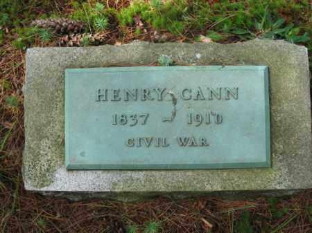 CANN (CW), HENRY - Pike County, Pennsylvania | HENRY CANN (CW) - Pennsylvania Gravestone Photos