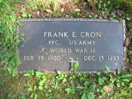 CRON(WW II), FRANK E. - Pike County, Pennsylvania | FRANK E. CRON(WW II) - Pennsylvania Gravestone Photos