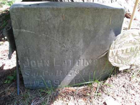 LATTIMORE (CW), JOHN - Pike County, Pennsylvania   JOHN LATTIMORE (CW) - Pennsylvania Gravestone Photos