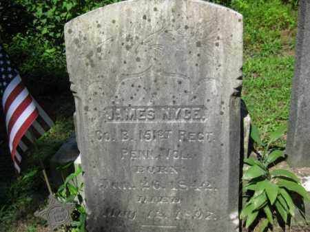 NYCE (CW), JAMES - Pike County, Pennsylvania | JAMES NYCE (CW) - Pennsylvania Gravestone Photos