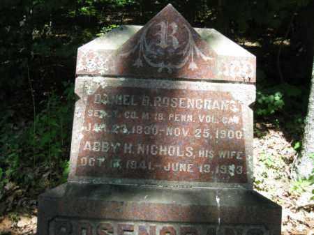 ROSENGRANS (CW), DANIEL D. - Pike County, Pennsylvania | DANIEL D. ROSENGRANS (CW) - Pennsylvania Gravestone Photos