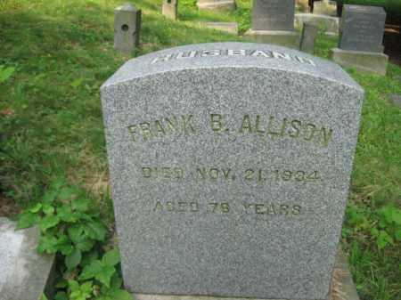 ALLISON, FRANK B. - Schuylkill County, Pennsylvania | FRANK B. ALLISON - Pennsylvania Gravestone Photos