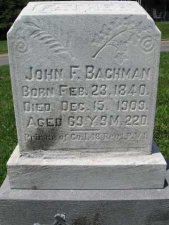 BACHMAN (CW), JOHN F. - Schuylkill County, Pennsylvania | JOHN F. BACHMAN (CW) - Pennsylvania Gravestone Photos