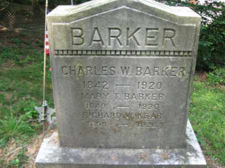 BARKER (CW), CHARLES W. - Schuylkill County, Pennsylvania | CHARLES W. BARKER (CW) - Pennsylvania Gravestone Photos