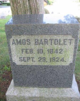 BARTOLET, AMOS - Schuylkill County, Pennsylvania   AMOS BARTOLET - Pennsylvania Gravestone Photos
