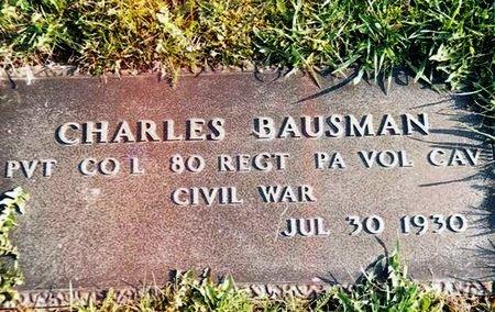 BAUSMAN (BOWSMAN) (CW), CHARLES - Schuylkill County, Pennsylvania | CHARLES BAUSMAN (BOWSMAN) (CW) - Pennsylvania Gravestone Photos