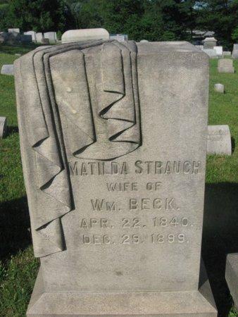 BECK, MATILDA - Schuylkill County, Pennsylvania | MATILDA BECK - Pennsylvania Gravestone Photos