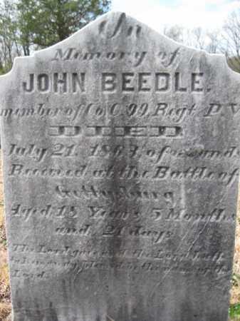 BEEDLE (CW), JOHN - Schuylkill County, Pennsylvania   JOHN BEEDLE (CW) - Pennsylvania Gravestone Photos
