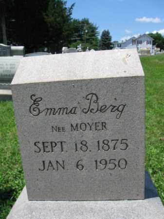 MOYER BERG, EMMA - Schuylkill County, Pennsylvania | EMMA MOYER BERG - Pennsylvania Gravestone Photos
