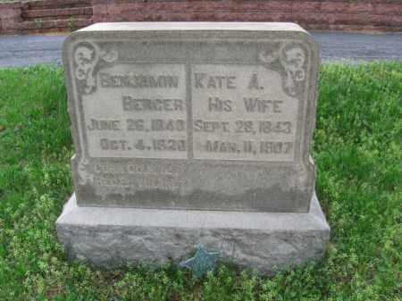 BERGER (CW), BENJAMIN - Schuylkill County, Pennsylvania | BENJAMIN BERGER (CW) - Pennsylvania Gravestone Photos