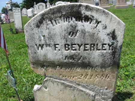 BEYERLEY (BEYERLE) (CW), WILLIAM F. - Schuylkill County, Pennsylvania | WILLIAM F. BEYERLEY (BEYERLE) (CW) - Pennsylvania Gravestone Photos