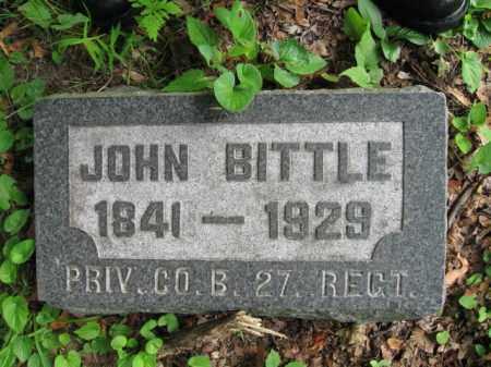 BITTLE (CW), PVT.JOHN - Schuylkill County, Pennsylvania | PVT.JOHN BITTLE (CW) - Pennsylvania Gravestone Photos