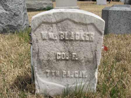 BLACKER (CW), WILLIAM - Schuylkill County, Pennsylvania | WILLIAM BLACKER (CW) - Pennsylvania Gravestone Photos