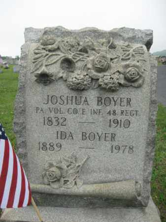 BOYER (CW), PVT.JOSHUA - Schuylkill County, Pennsylvania   PVT.JOSHUA BOYER (CW) - Pennsylvania Gravestone Photos