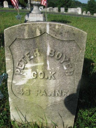 BOYER (CW), PETER - Schuylkill County, Pennsylvania | PETER BOYER (CW) - Pennsylvania Gravestone Photos