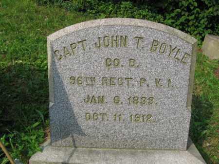 BOYLE (CW), CAPT.JOHN T. - Schuylkill County, Pennsylvania | CAPT.JOHN T. BOYLE (CW) - Pennsylvania Gravestone Photos