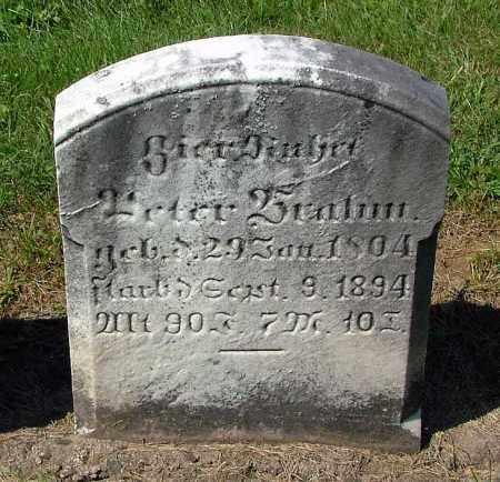 BRAHM, PETER - Schuylkill County, Pennsylvania | PETER BRAHM - Pennsylvania Gravestone Photos