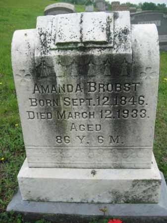 BROBST, AMANDA - Schuylkill County, Pennsylvania | AMANDA BROBST - Pennsylvania Gravestone Photos