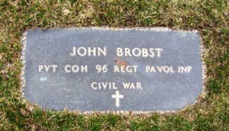 BROBST (CW), JOHN - Schuylkill County, Pennsylvania | JOHN BROBST (CW) - Pennsylvania Gravestone Photos