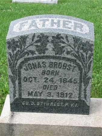 BROBST (CW), JONAS - Schuylkill County, Pennsylvania | JONAS BROBST (CW) - Pennsylvania Gravestone Photos