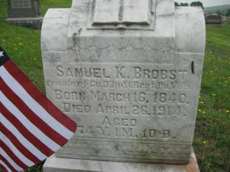 BROBST (CW), SAMUEL K. - Schuylkill County, Pennsylvania   SAMUEL K. BROBST (CW) - Pennsylvania Gravestone Photos