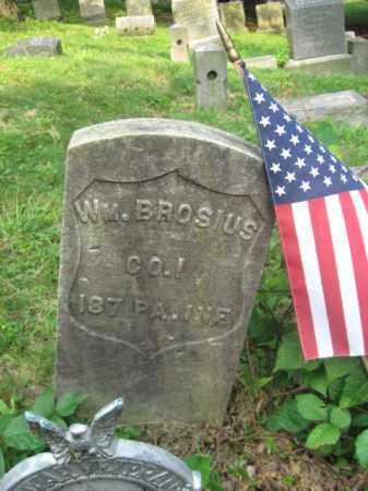 BROSIUS (CW), WILLIAM - Schuylkill County, Pennsylvania | WILLIAM BROSIUS (CW) - Pennsylvania Gravestone Photos