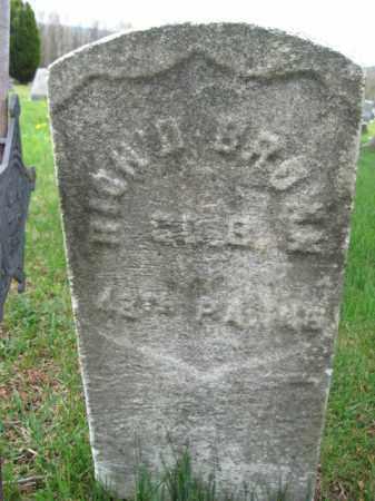 BROWN (CW), RICHARD - Schuylkill County, Pennsylvania | RICHARD BROWN (CW) - Pennsylvania Gravestone Photos