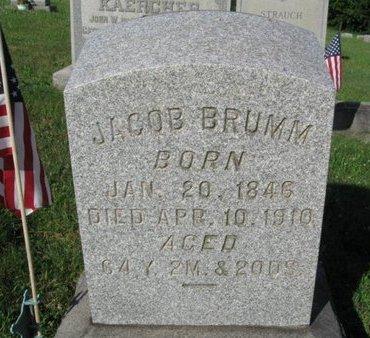 BRUMM (BROOM) (CW), JACOB - Schuylkill County, Pennsylvania | JACOB BRUMM (BROOM) (CW) - Pennsylvania Gravestone Photos